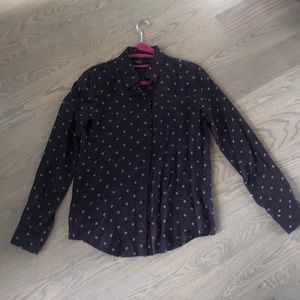 Club Monaco Purple Long Sleeve Blouse Size S/P